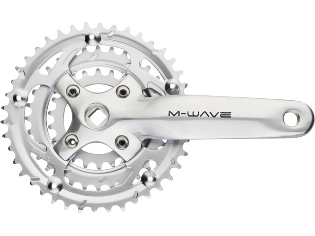 M-Wave Crankset 3 vitesses 42-32-22 dents, silver